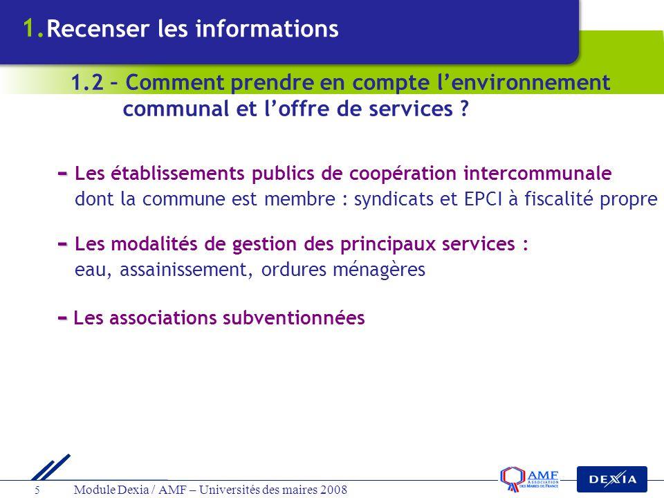 - Les modalités de gestion des principaux services :