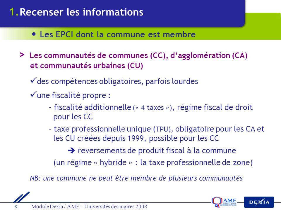 > Les communautés de communes (CC), d'agglomération (CA)