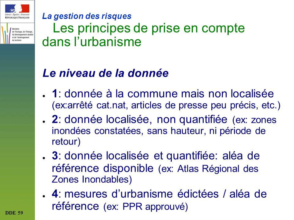 4: mesures d'urbanisme édictées / aléa de référence (ex: PPR approuvé)