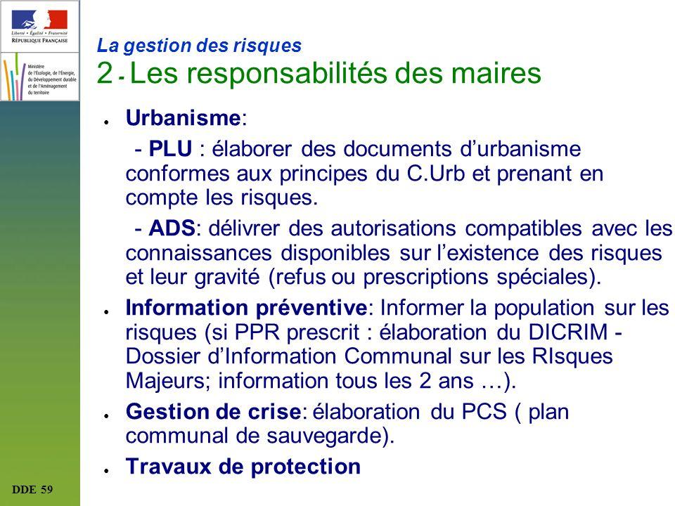 La gestion des risques 2 - Les responsabilités des maires