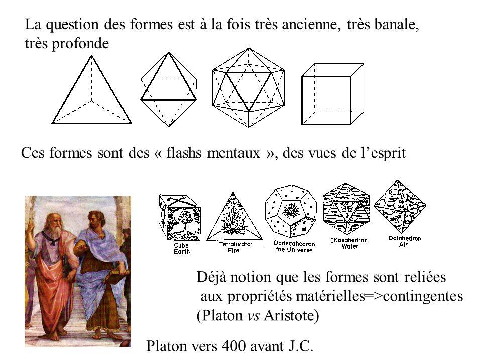 La question des formes est à la fois très ancienne, très banale,