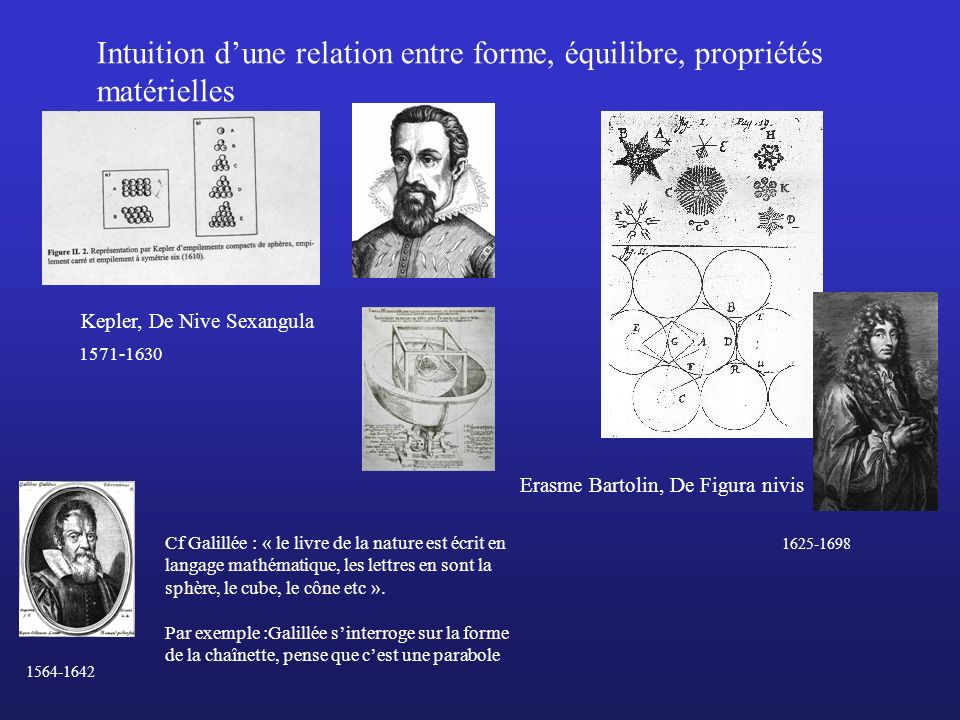 Intuition d'une relation entre forme, équilibre, propriétés matérielles