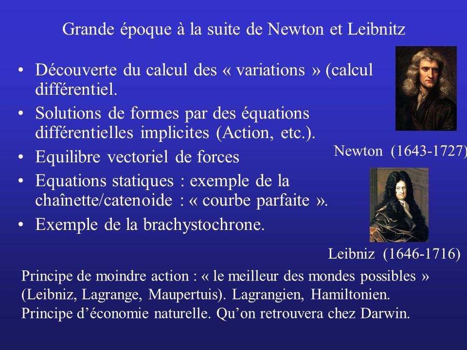 Grande époque à la suite de Newton et Leibnitz