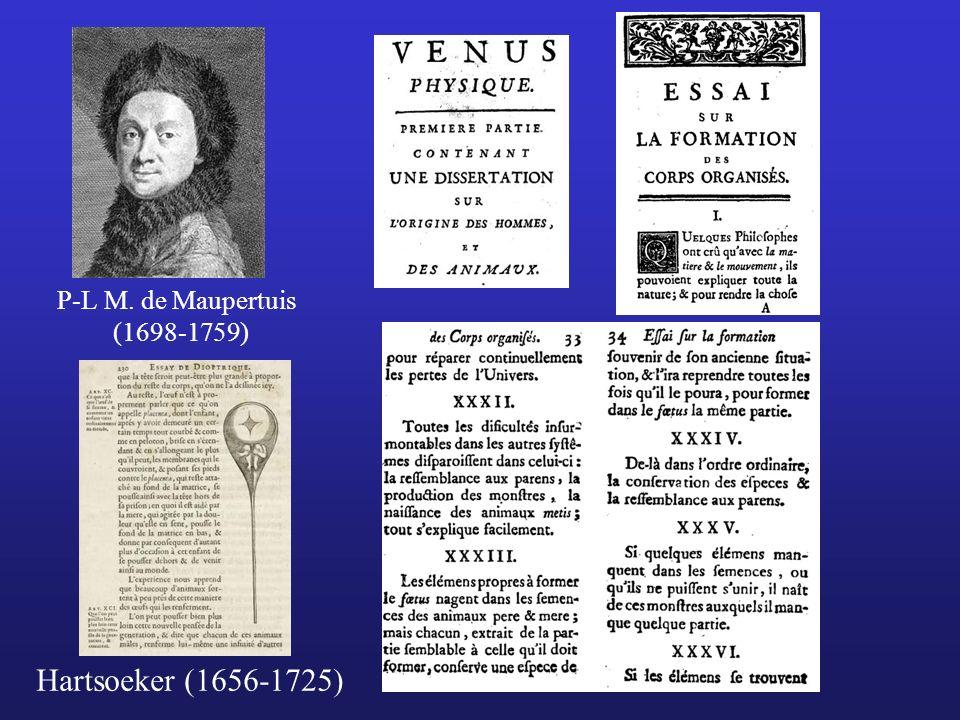 P-L M. de Maupertuis (1698-1759) Hartsoeker (1656-1725)