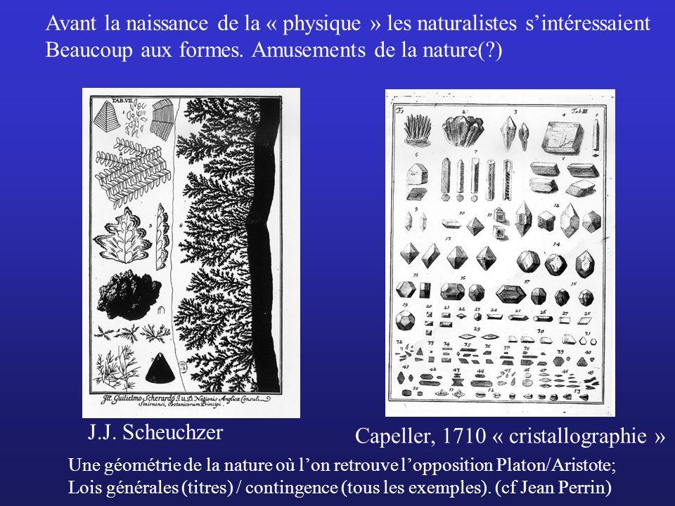 Avant la naissance de la « physique » les naturalistes s'intéressaient