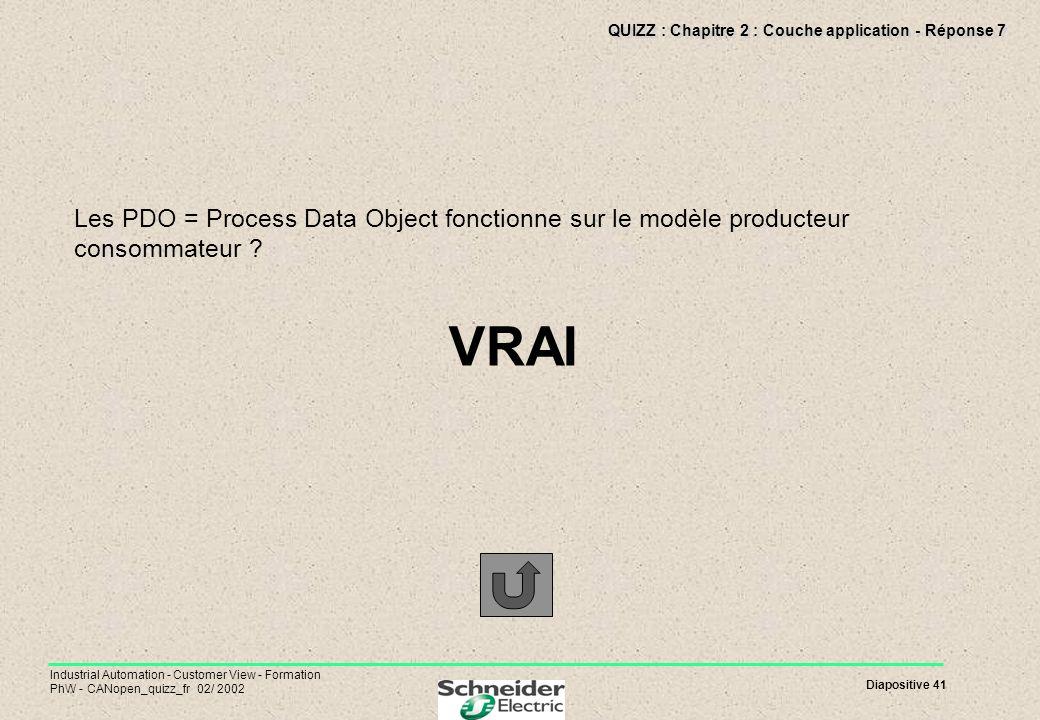 QUIZZ : Chapitre 2 : Couche application - Réponse 7