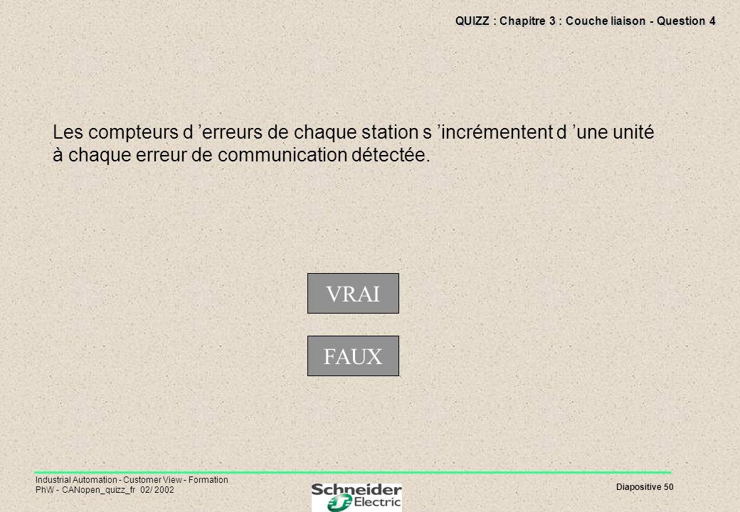 QUIZZ : Chapitre 3 : Couche liaison - Question 4