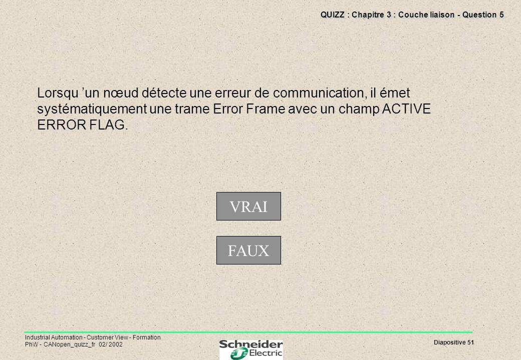 QUIZZ : Chapitre 3 : Couche liaison - Question 5