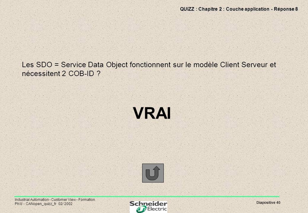 QUIZZ : Chapitre 2 : Couche application - Réponse 8
