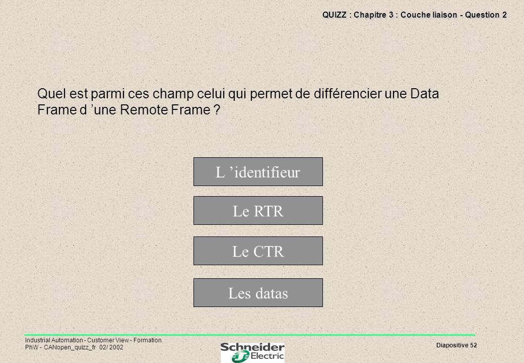 QUIZZ : Chapitre 3 : Couche liaison - Question 2