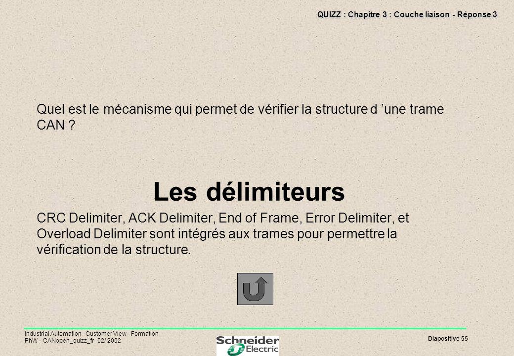 QUIZZ : Chapitre 3 : Couche liaison - Réponse 3