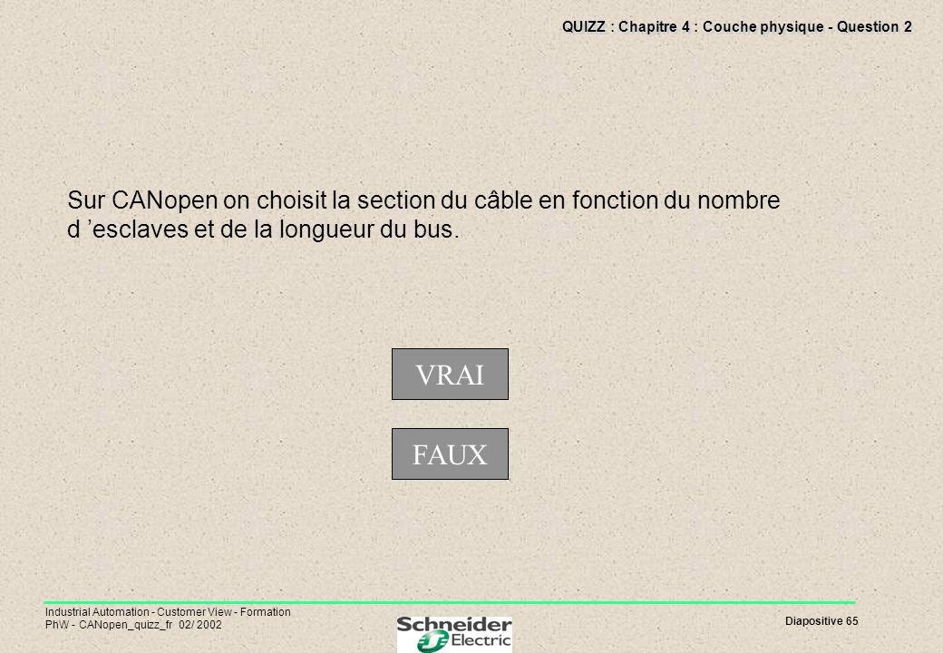 QUIZZ : Chapitre 4 : Couche physique - Question 2