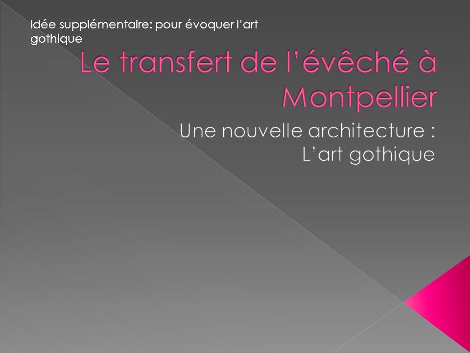Le transfert de l'évêché à Montpellier
