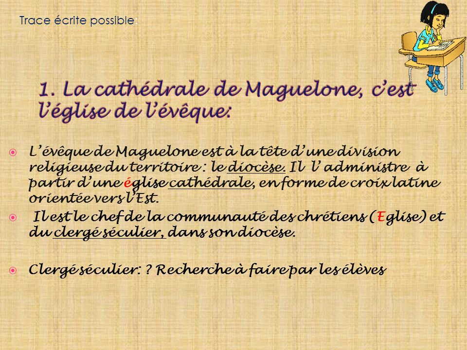 1. La cathédrale de Maguelone, c'est l'église de l'évêque: