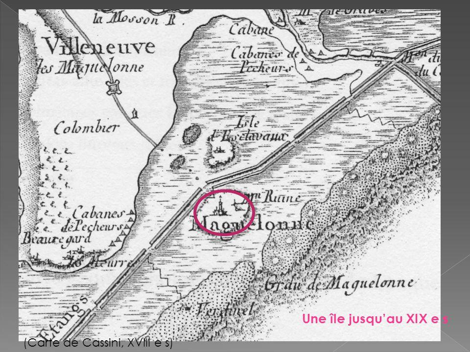 Une île jusqu'au XIX e s (Carte de Cassini, XVIII e s)