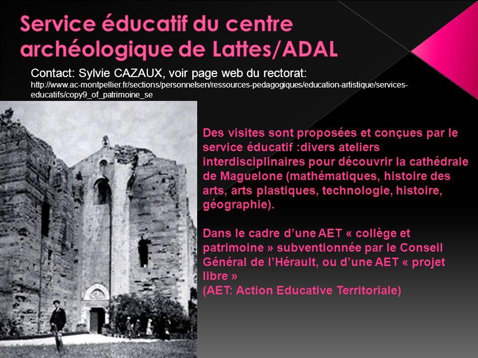 Service éducatif du centre archéologique de Lattes/ADAL