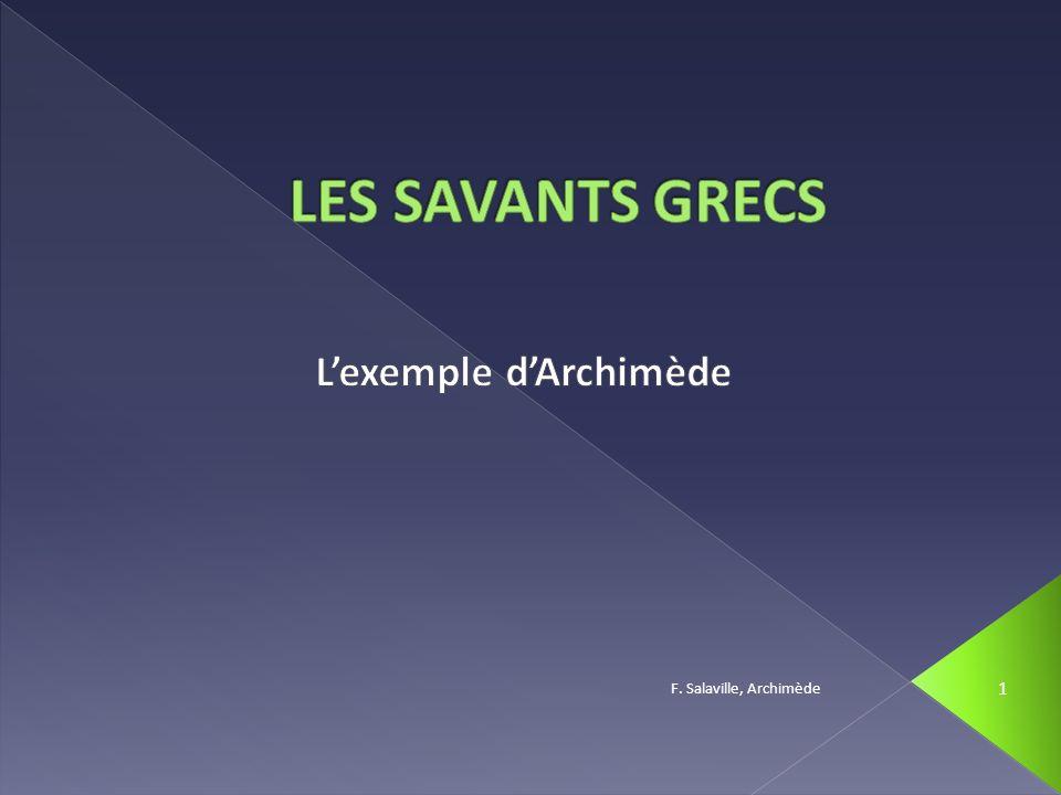 L'exemple d'Archimède