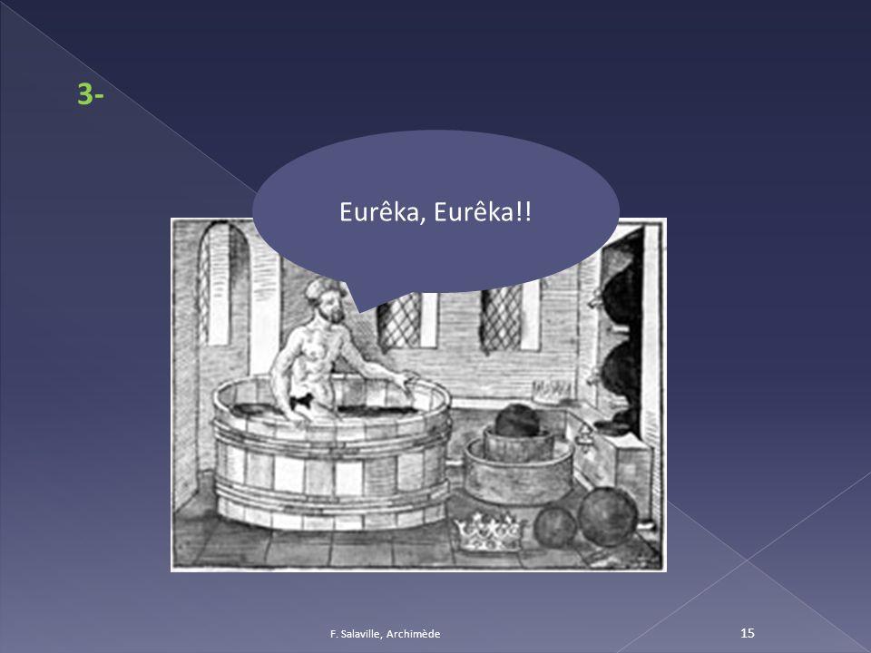 3- Eurêka, Eurêka!! F. Salaville, Archimède