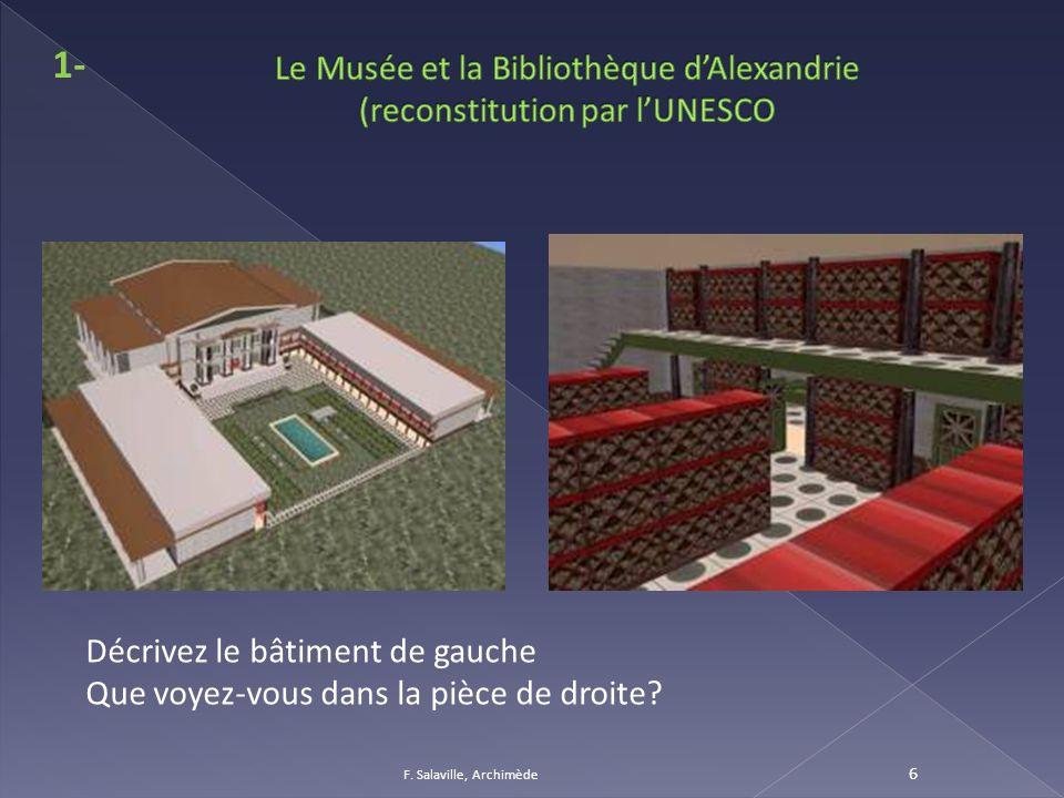 Le Musée et la Bibliothèque d'Alexandrie (reconstitution par l'UNESCO