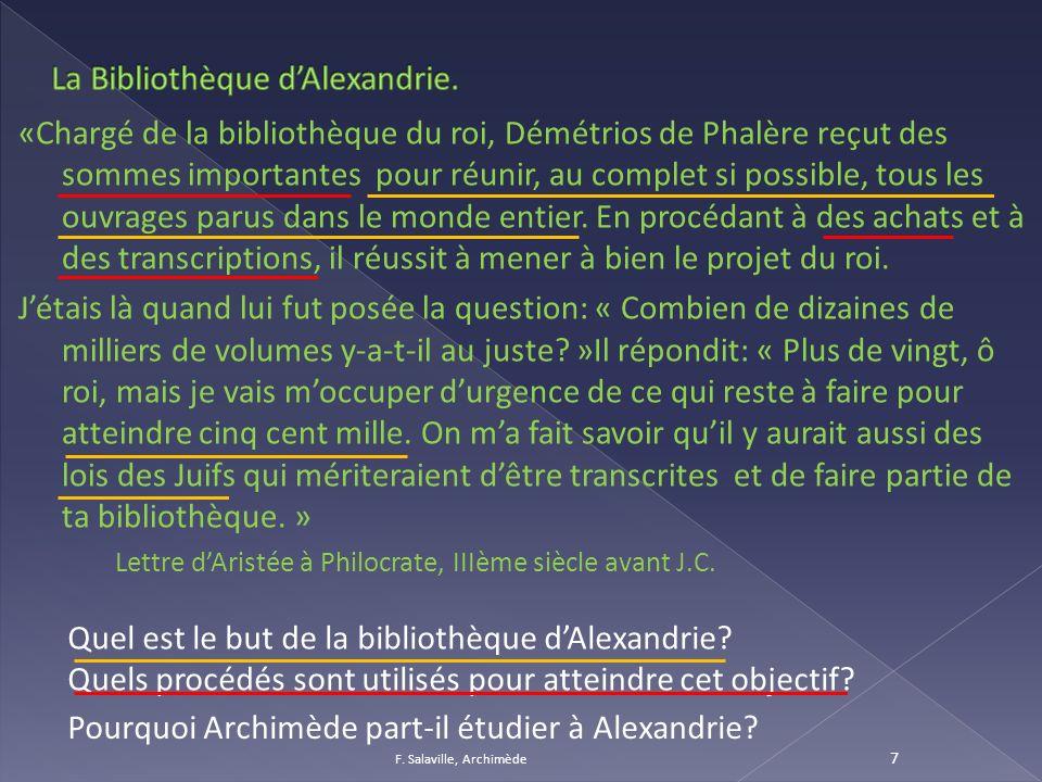 La Bibliothèque d'Alexandrie.