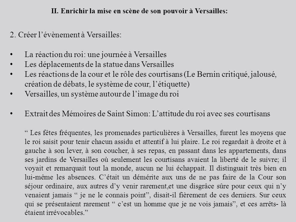 2. Créer l'évènement à Versailles: