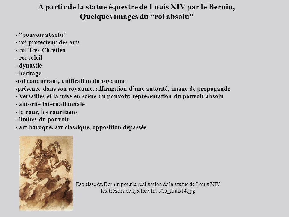 A partir de la statue équestre de Louis XIV par le Bernin,