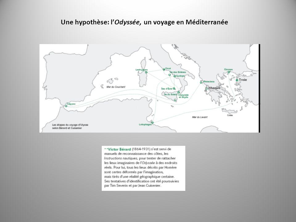 Une hypothèse: l'Odyssée, un voyage en Méditerranée