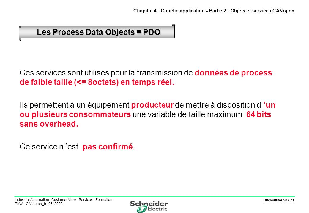 Les Process Data Objects = PDO