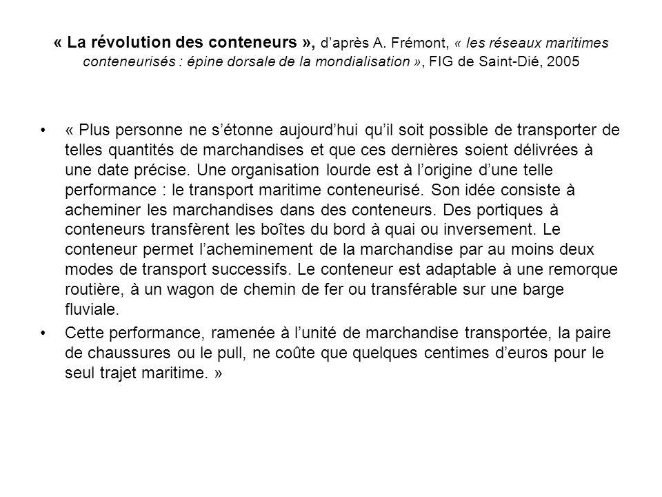 « La révolution des conteneurs », d'après A