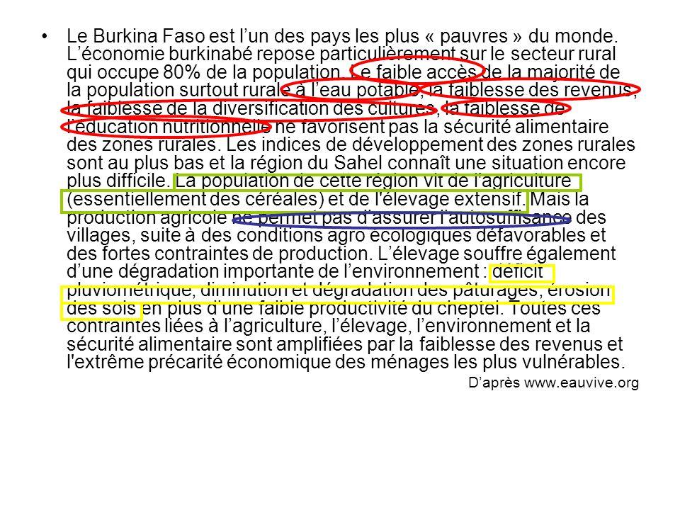 Le Burkina Faso est l'un des pays les plus « pauvres » du monde