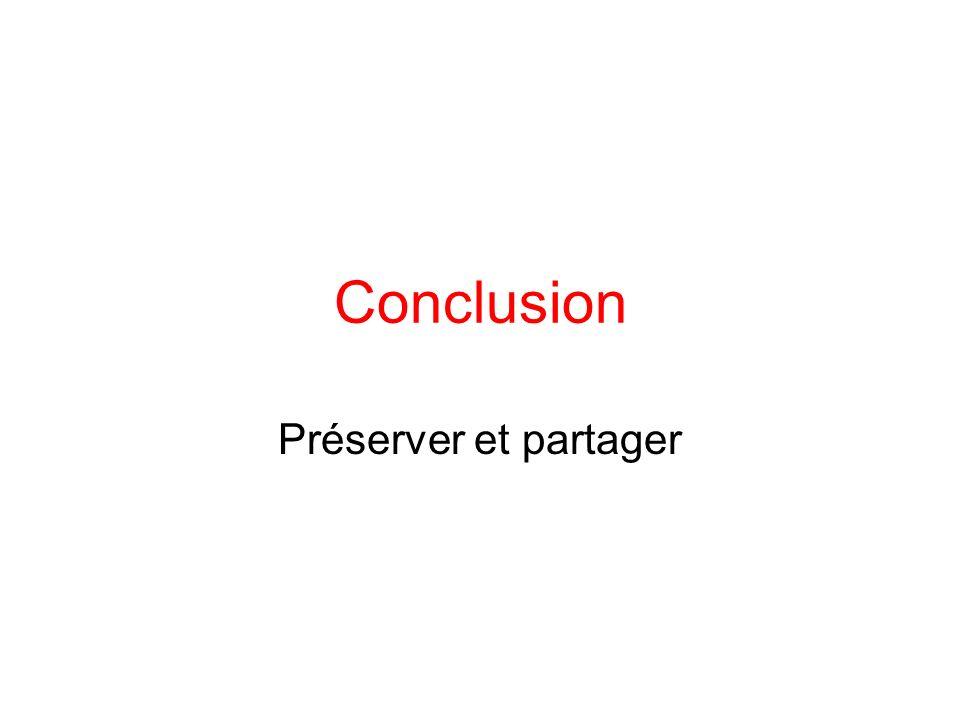 Conclusion Préserver et partager