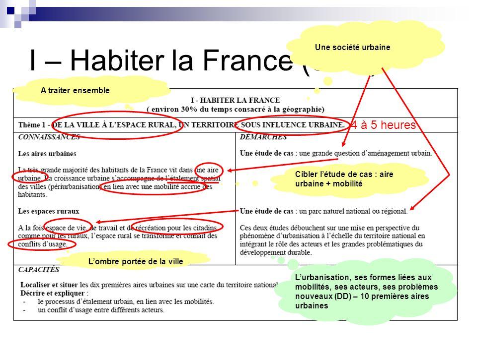 I – Habiter la France (30%)