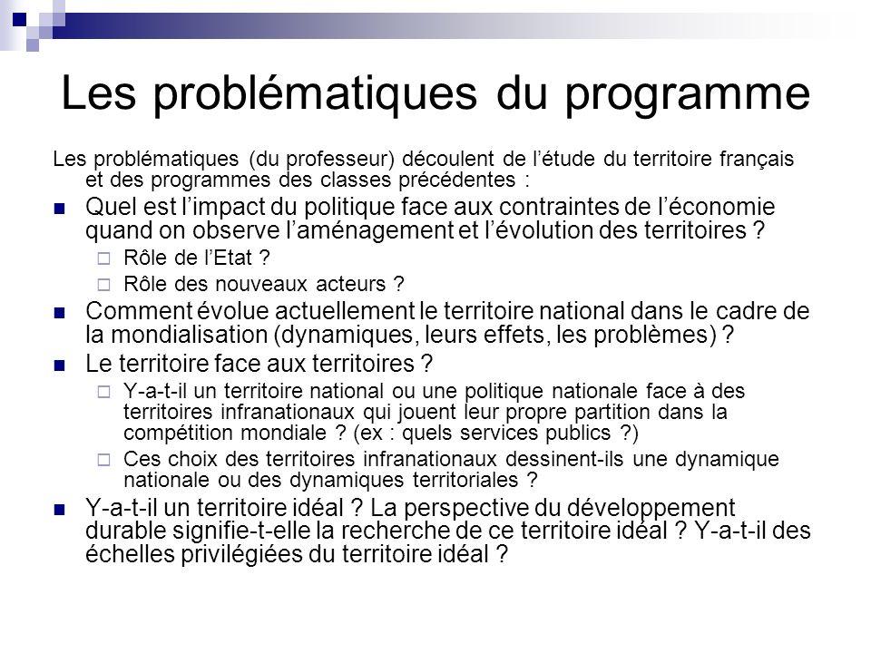 Les problématiques du programme