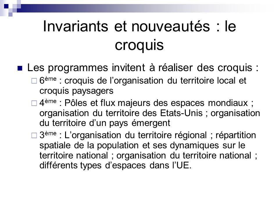 Invariants et nouveautés : le croquis