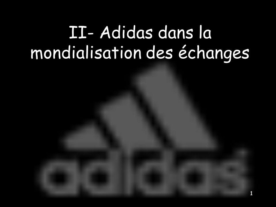 II- Adidas dans la mondialisation des échanges