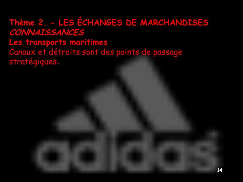 Thème 2. - LES ÉCHANGES DE MARCHANDISES