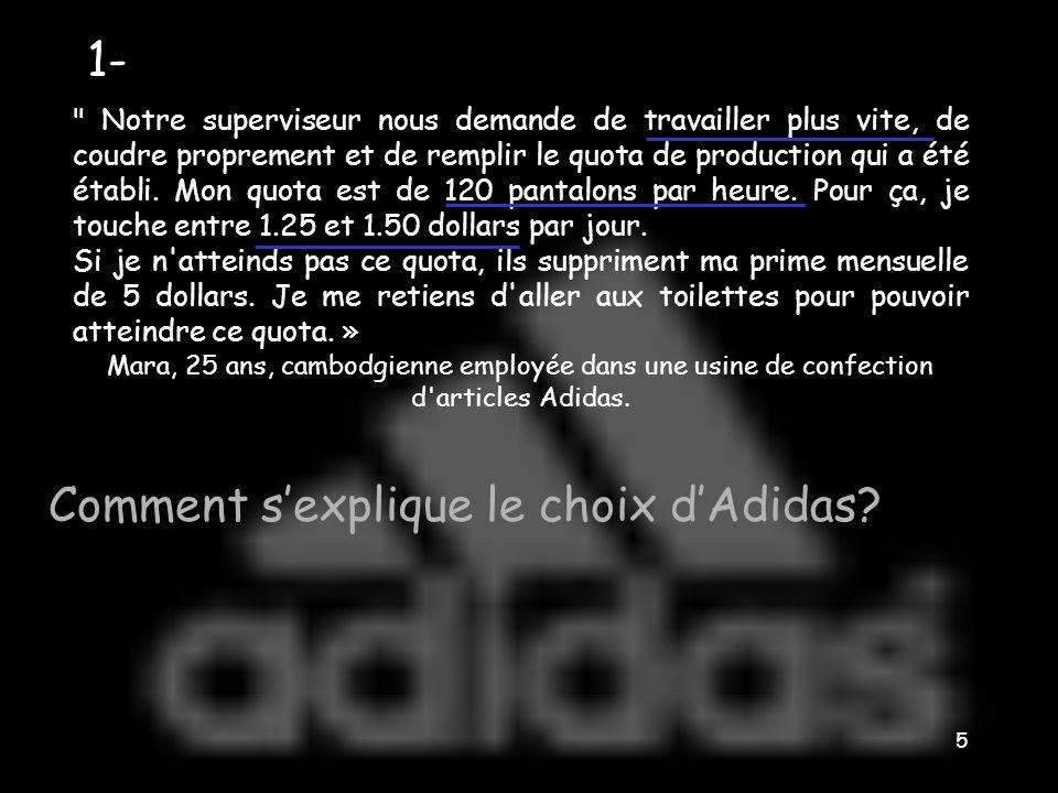Comment s'explique le choix d'Adidas