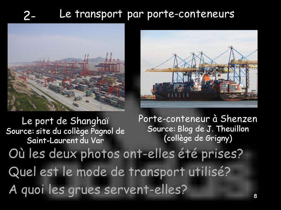 Le transport par porte-conteneurs