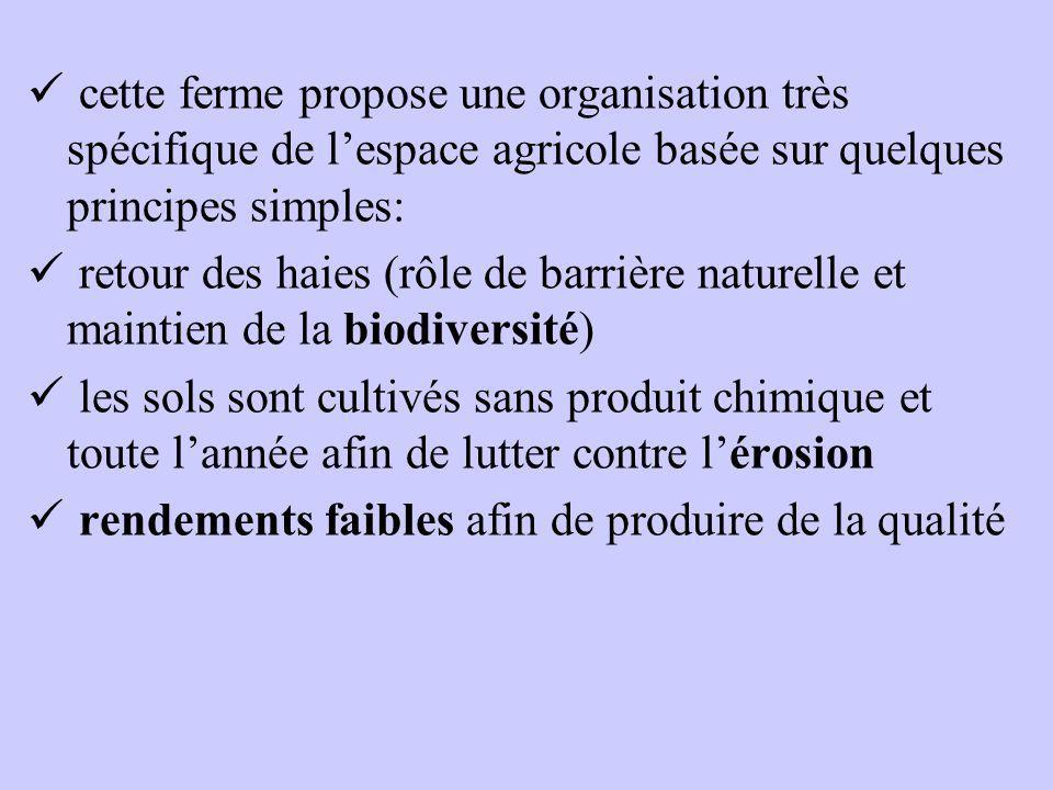 cette ferme propose une organisation très spécifique de l'espace agricole basée sur quelques principes simples: