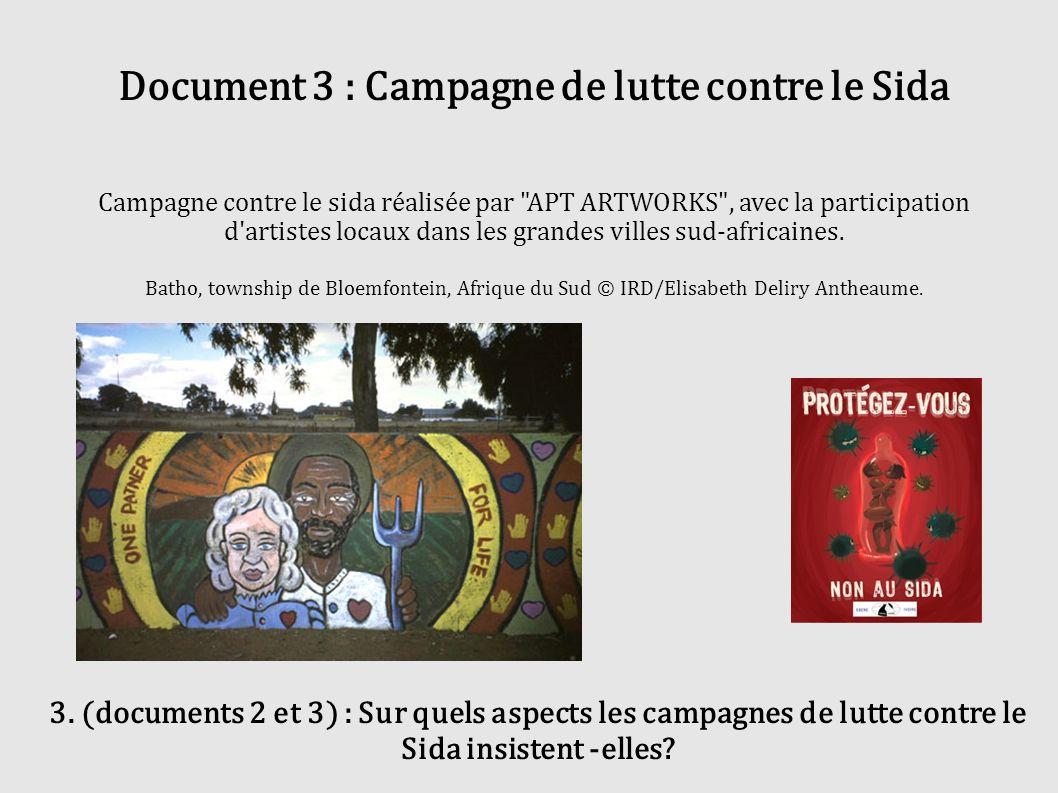 Document 3 : Campagne de lutte contre le Sida