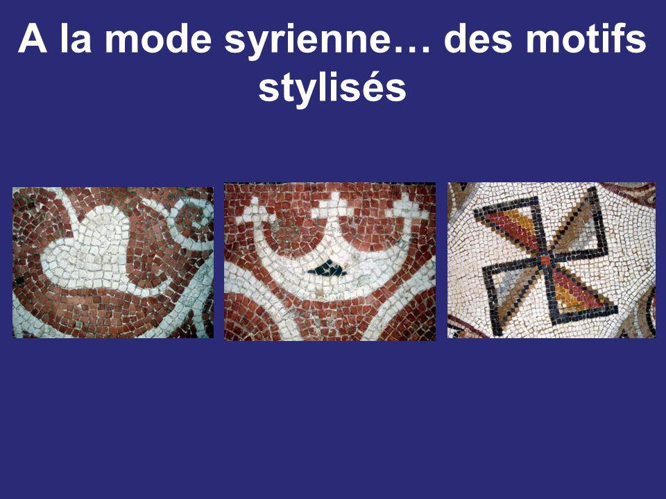 A la mode syrienne… des motifs stylisés