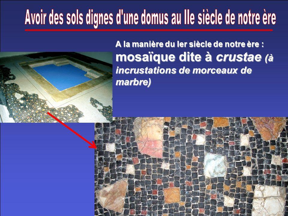 Avoir des sols dignes d une domus au IIe siècle de notre ère