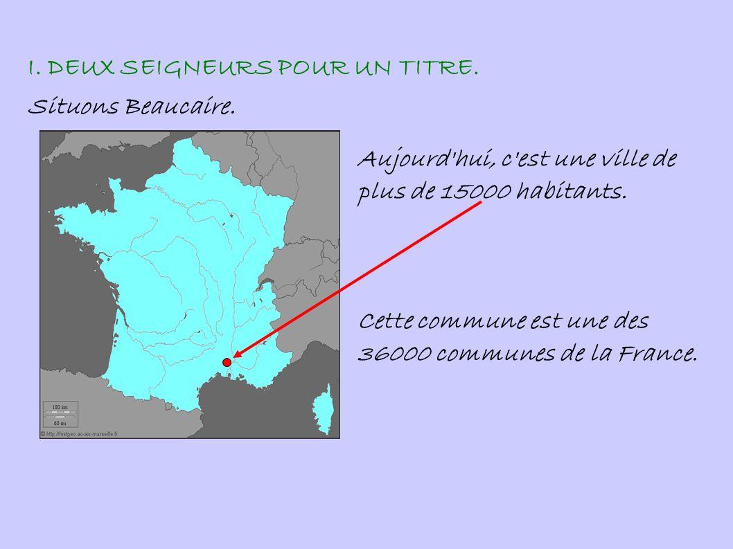 I. DEUX SEIGNEURS POUR UN TITRE.