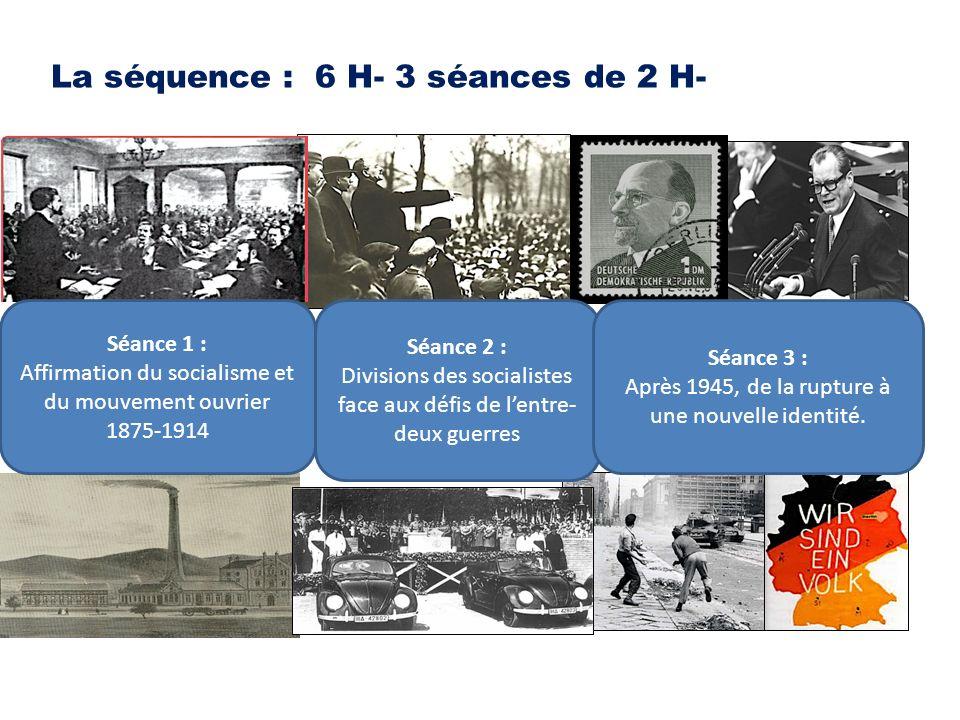 La séquence : 6 H- 3 séances de 2 H-