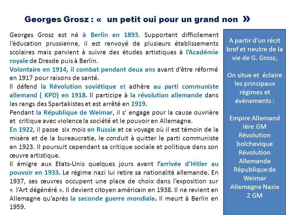 Georges Grosz : « un petit oui pour un grand non »