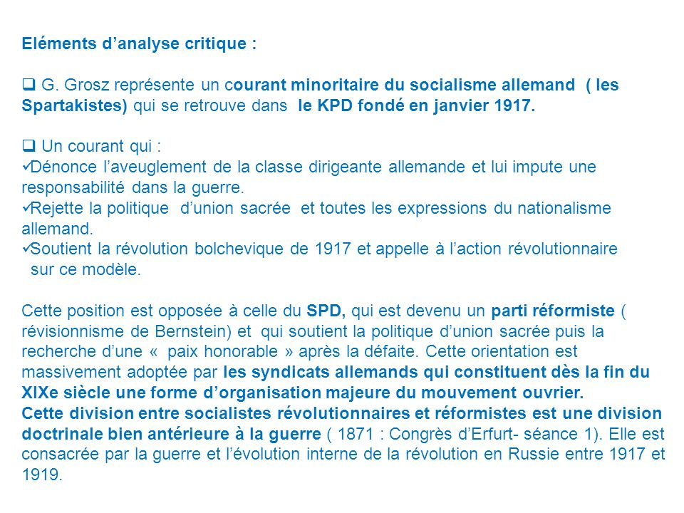Eléments d'analyse critique :