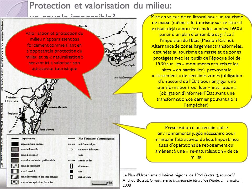 Protection et valorisation du milieu: un couple impossible