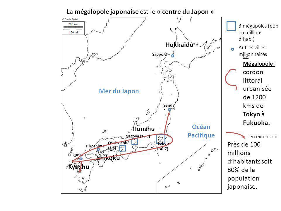 La mégalopole japonaise est le « centre du Japon »