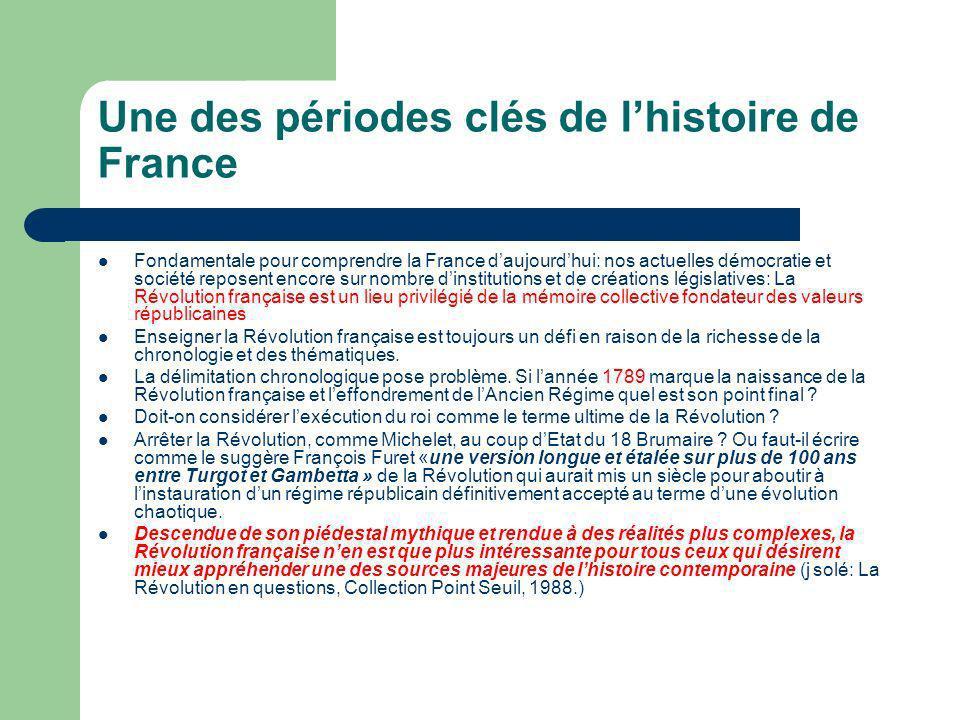 Une des périodes clés de l'histoire de France