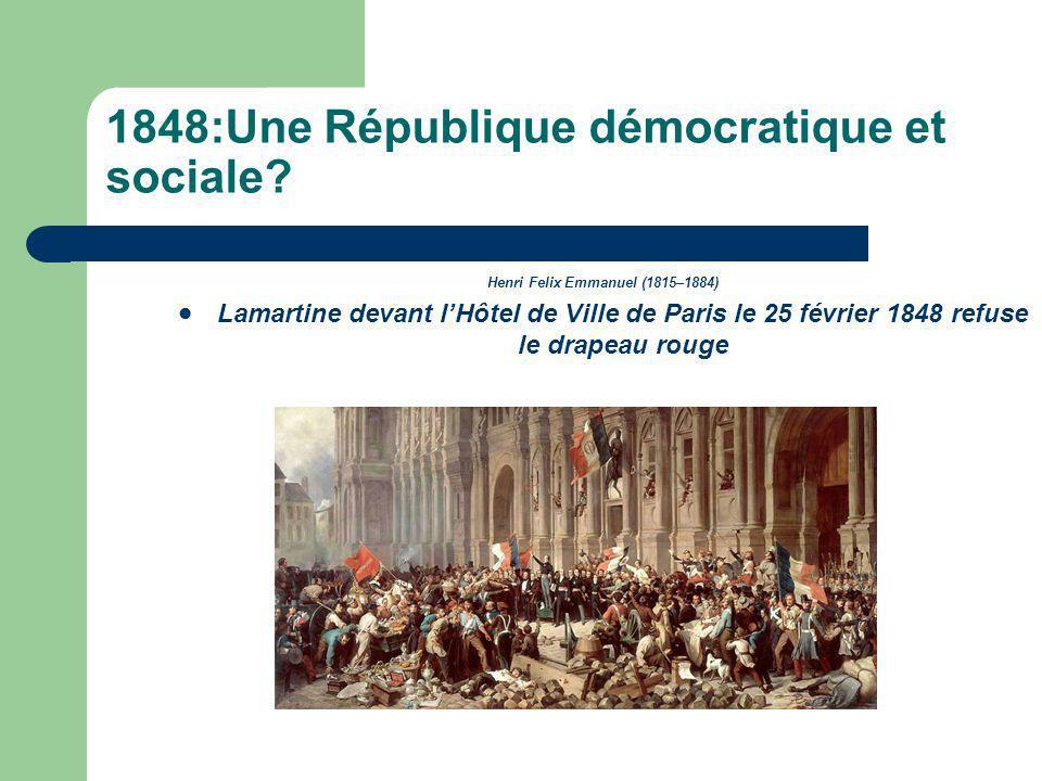 1848:Une République démocratique et sociale